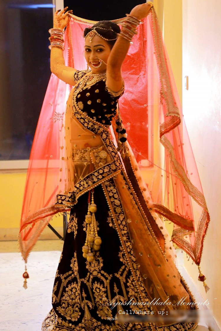 Bride In Blue Lehenga by Ayushmanbhaba Moments Wedding-photography | Weddings Photos & Ideas