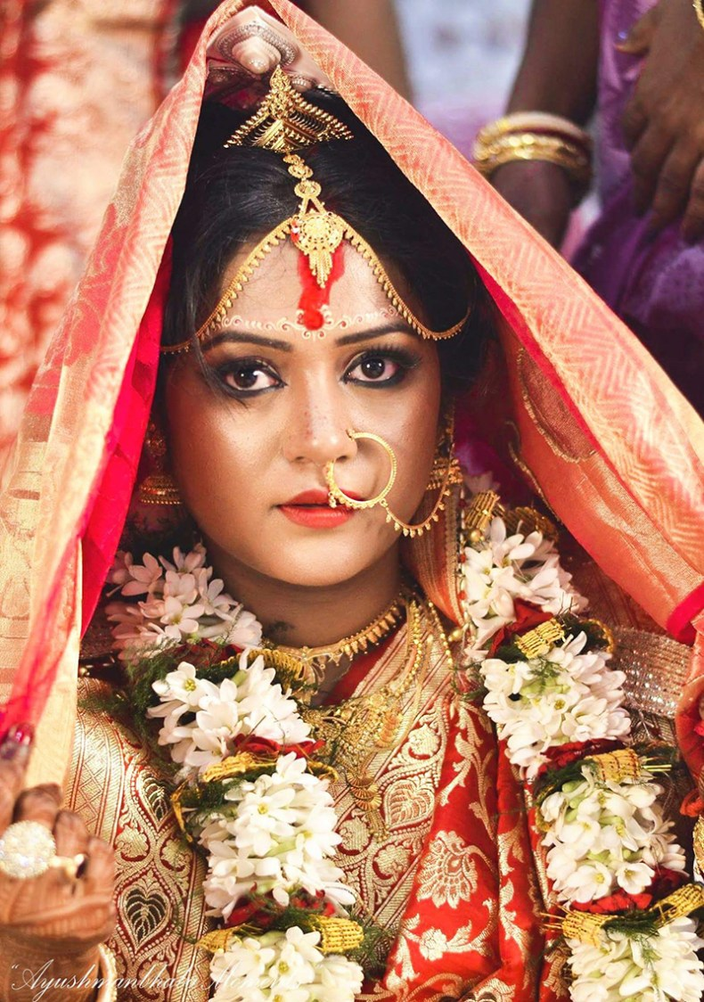 Bridal Gaze On Wedding Day by Ayushmanbhaba Moments Wedding-photography Bridal-makeup | Weddings Photos & Ideas