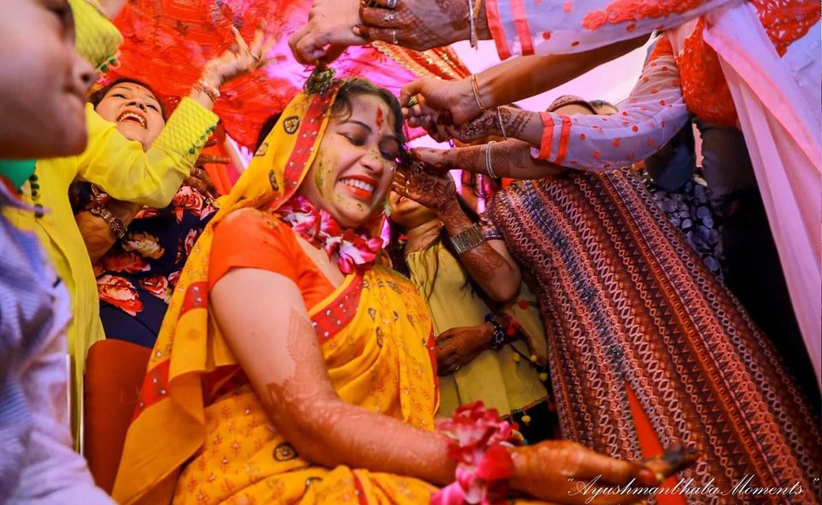 Haldi Shot by Ayushmanbhaba Moments Wedding-photography | Weddings Photos & Ideas