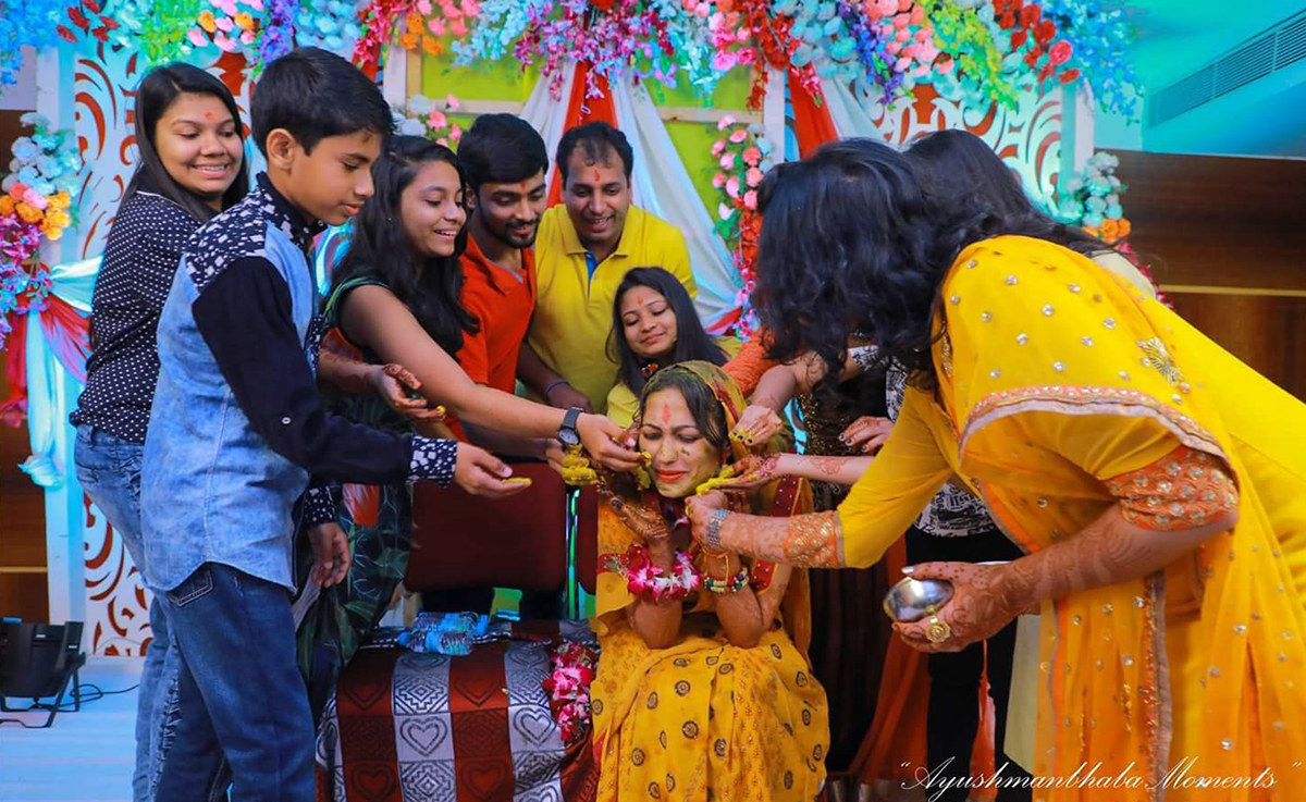 Haldi Shot by Ayushmanbhaba Moments Wedding-photography | Weddings Photos & Ideas