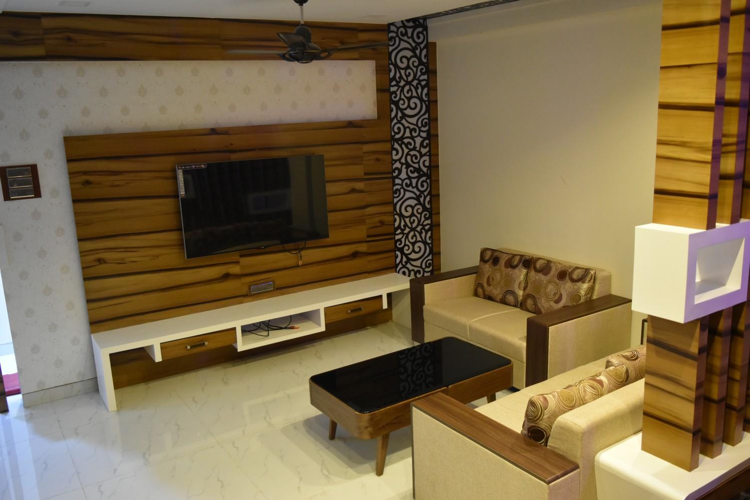 Stylish TV Cabinet Design by Aashirwad Koli