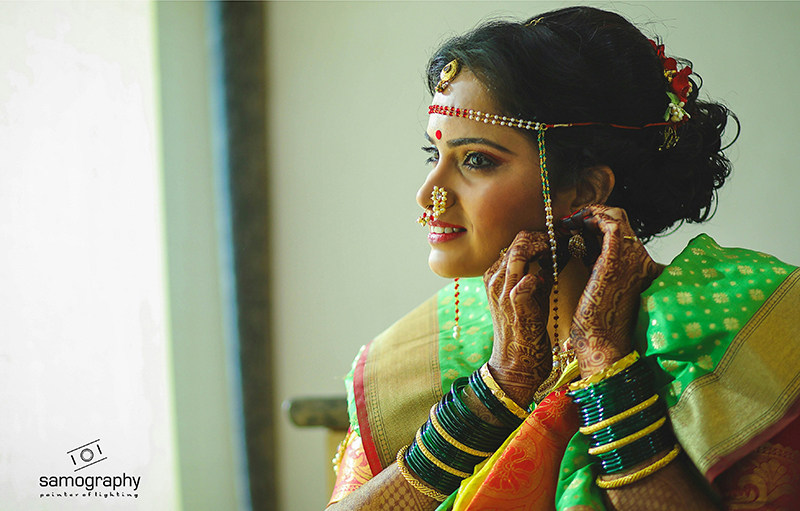 Stunning Bridal Portrait by Samography Wedding-photography Bridal-jewellery-and-accessories Bridal-makeup | Weddings Photos & Ideas
