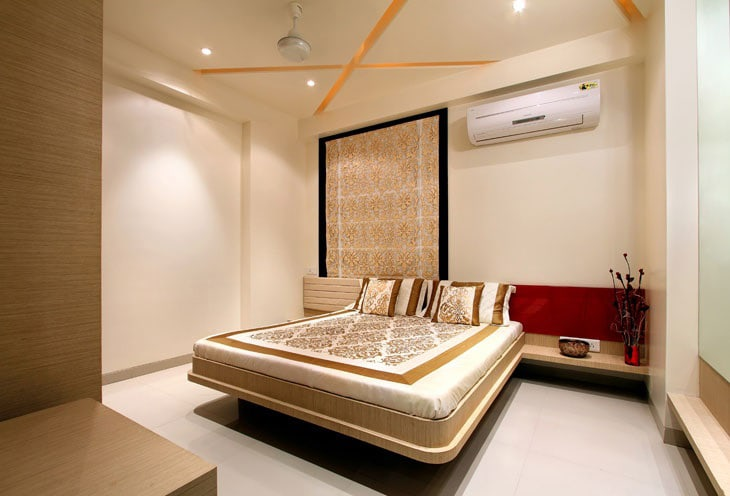 Low Rise Wooden Bed And Display Unit by Deepti Srivastava Bedroom Contemporary | Interior Design Photos & Ideas