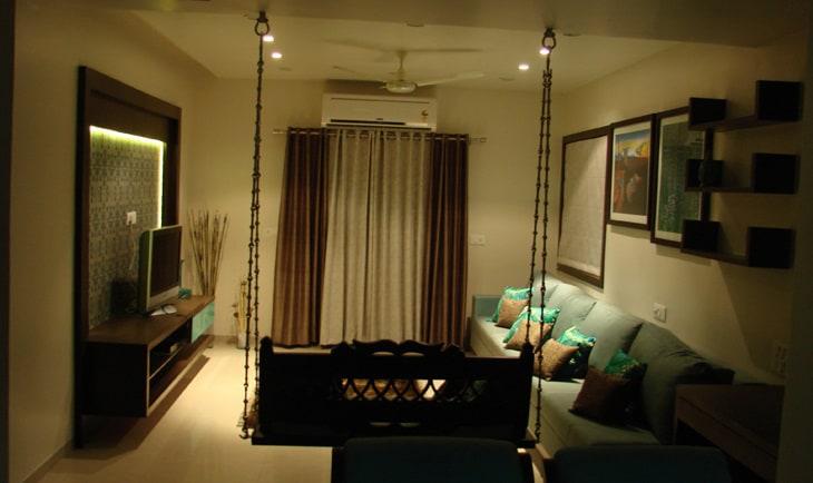 The Living Room by Deepti Srivastava Living-room Modern | Interior Design Photos & Ideas