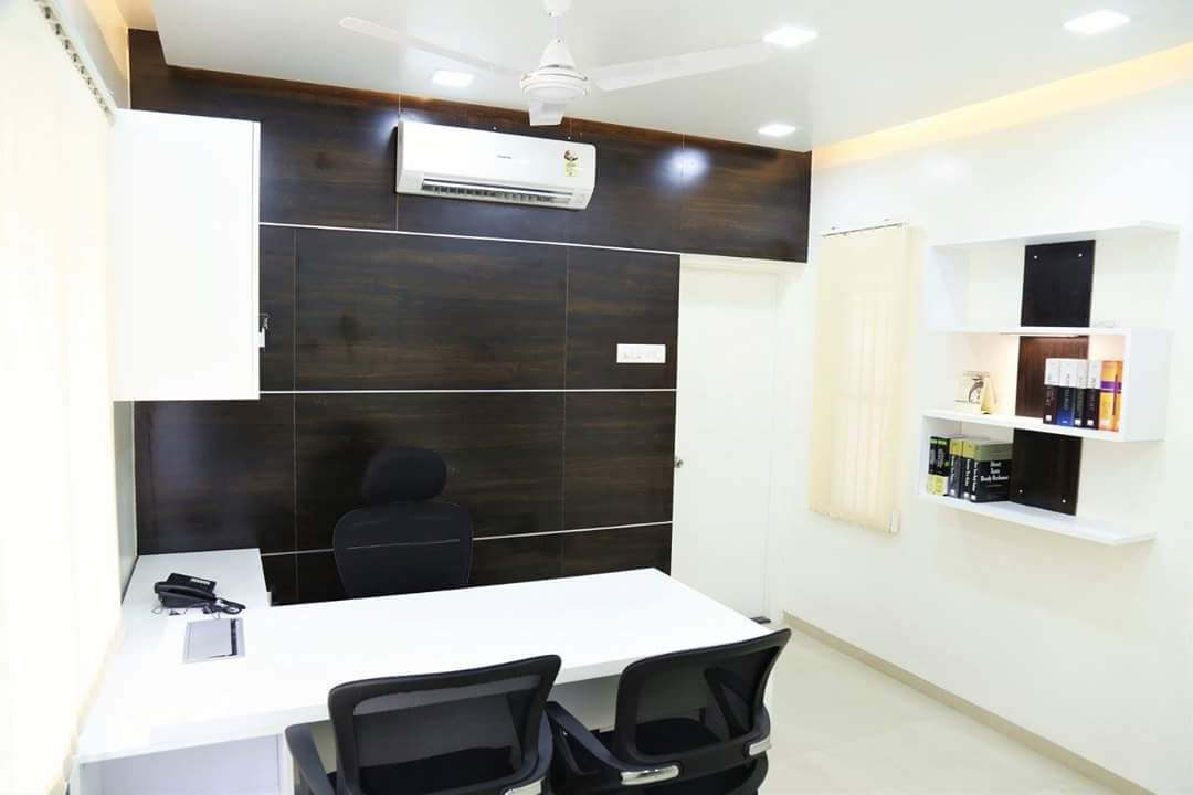 Black And White Office Space by Neeraja Kanitkar