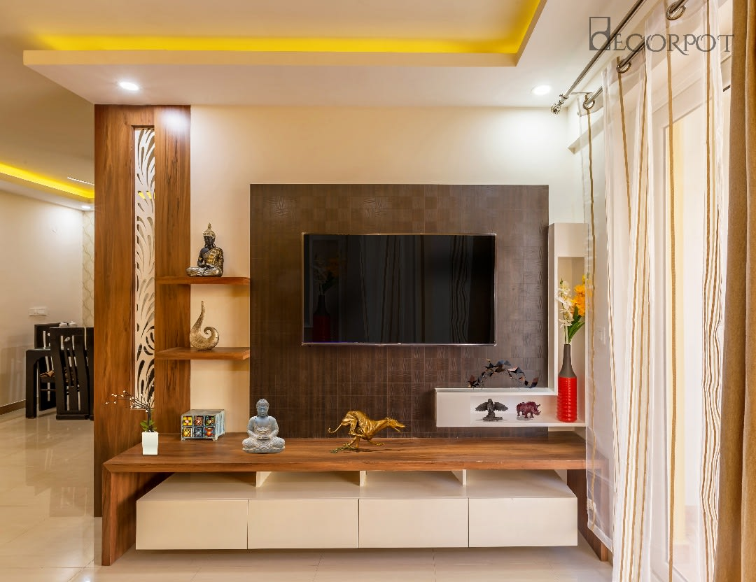 Contemporary living room with tv by Shubhashis Shomil Living-room Contemporary | Interior Design Photos & Ideas