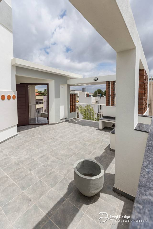 Terrace With Limestone Flooring by Prashanth Nandiprasad Open-spaces Modern | Interior Design Photos & Ideas
