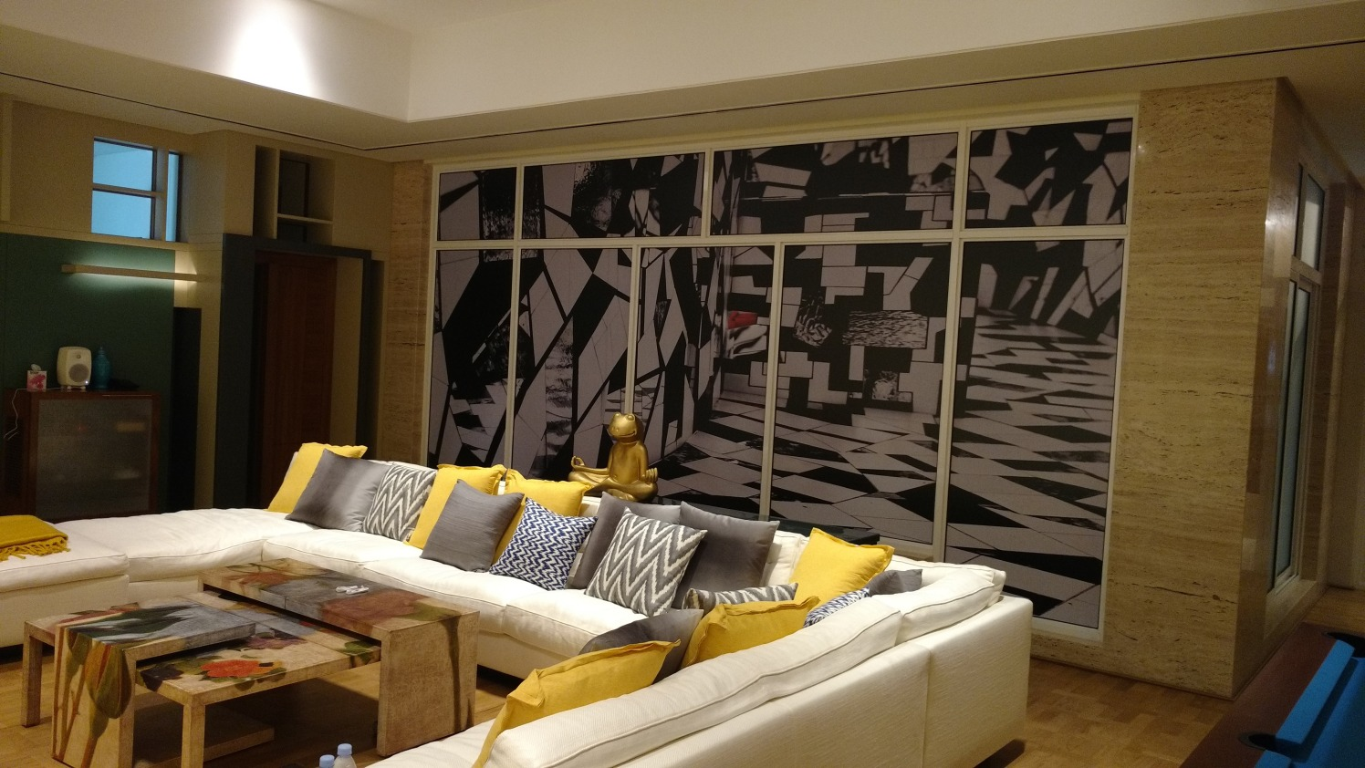 Solid yellows and Greys by Milind Kapadia Modern | Interior Design Photos & Ideas