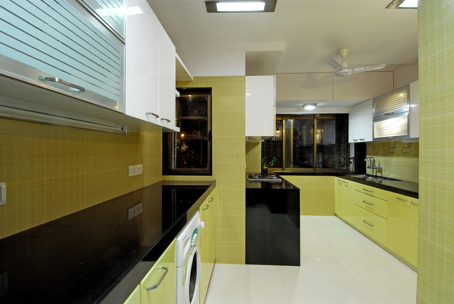 Modern Kitchen in U shape with cabinets by Milind Kapadia Modular-kitchen Modern | Interior Design Photos & Ideas