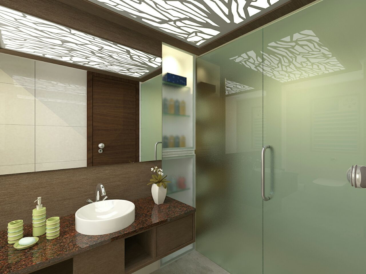 False Ceiling In Modern Bathroom by VERSATILE INTERIORS  Bathroom Modern | Interior Design Photos & Ideas