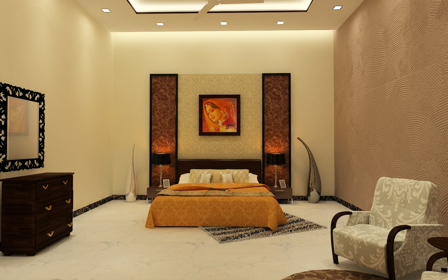 Contemporary master bedroom by Jamshed Ahmed Bedroom Contemporary | Interior Design Photos & Ideas