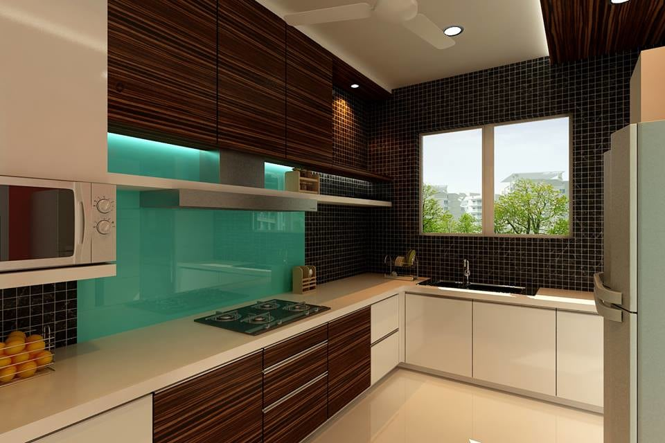 Modern modular L shaped kitchen by Jamshed Ahmed Modular-kitchen Modern | Interior Design Photos & Ideas