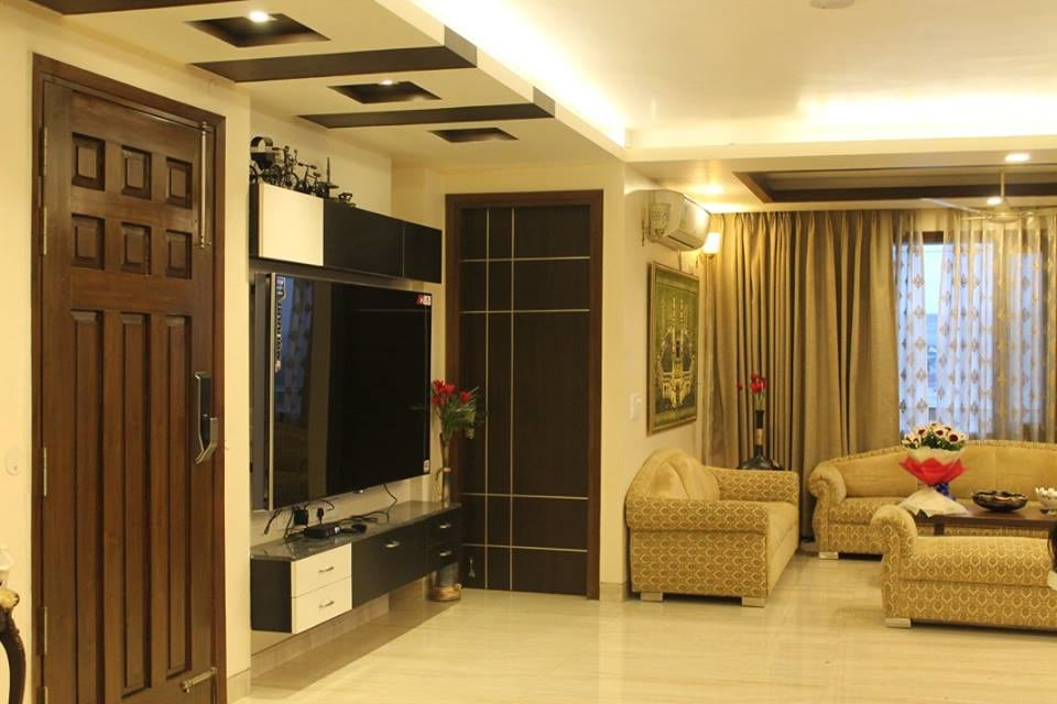 Contemporary living room with tv unit by Jamshed Ahmed Living-room Contemporary | Interior Design Photos & Ideas