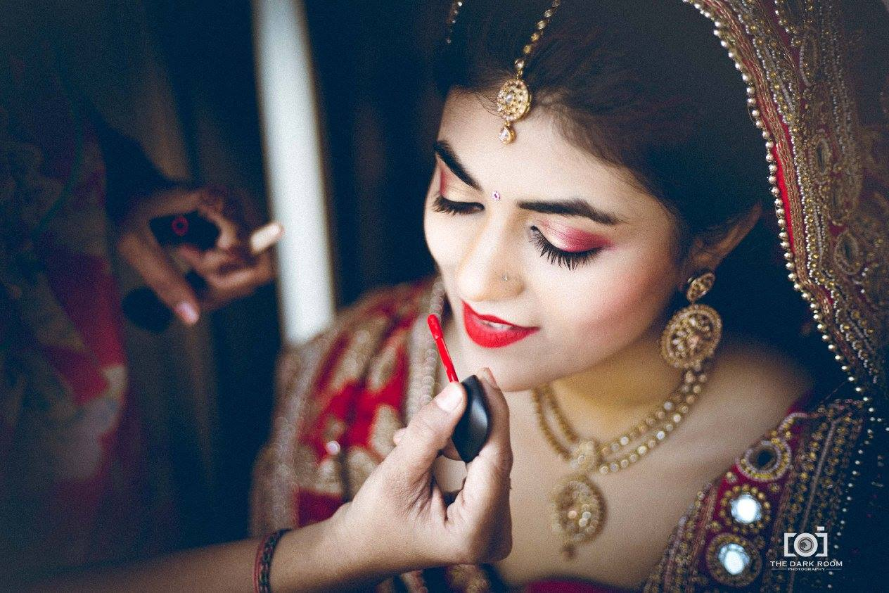 Bright red make up by The Dark Room Photography Wedding-photography | Weddings Photos & Ideas
