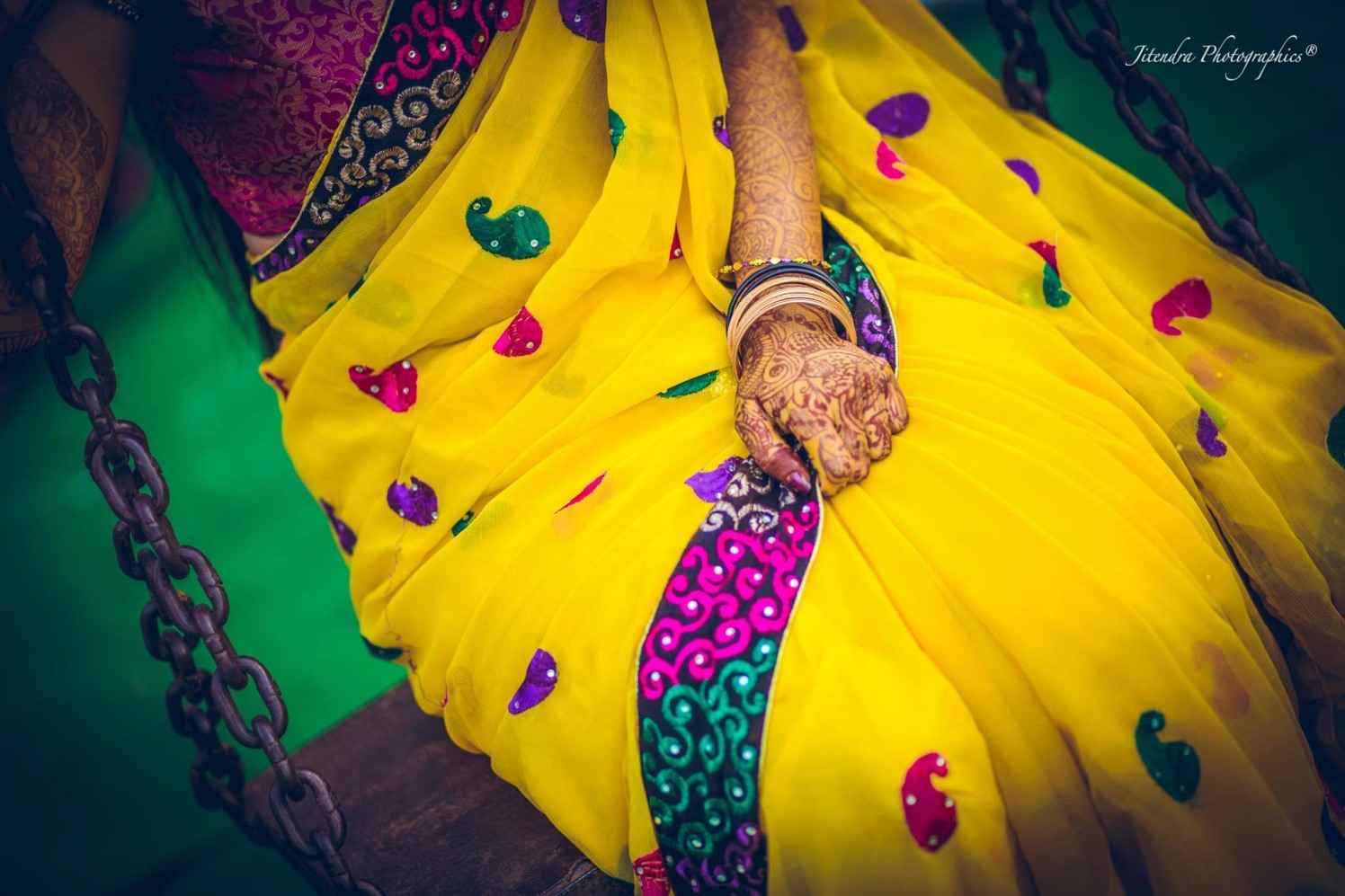 Yellow saree by The Dark Room Photography Wedding-photography | Weddings Photos & Ideas