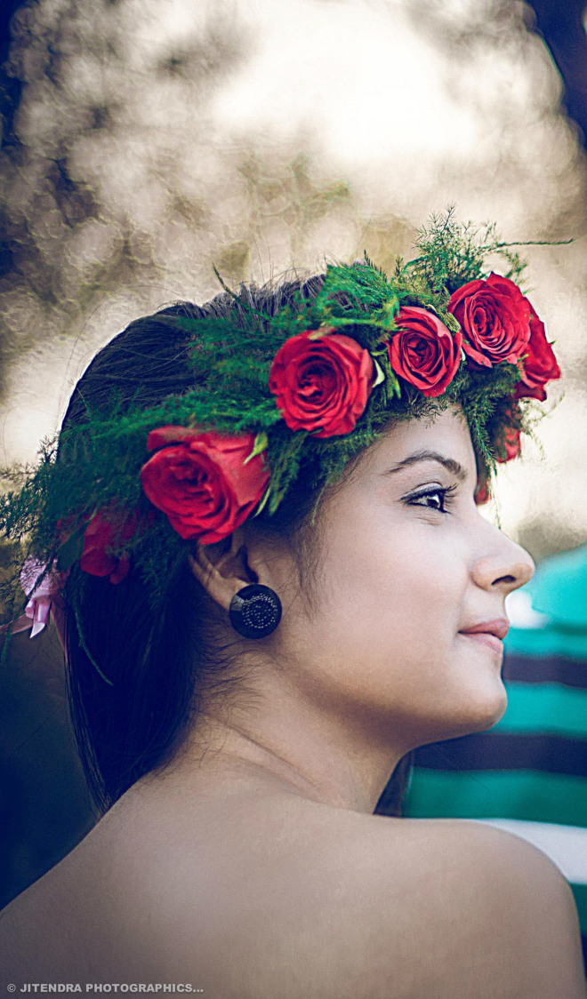 Rosy head gear by The Dark Room Photography Wedding-photography | Weddings Photos & Ideas