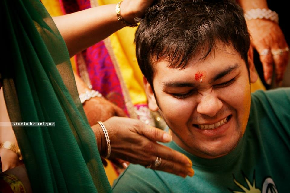 Haldi Shot by Dushyant Gadara Wedding-photography | Weddings Photos & Ideas