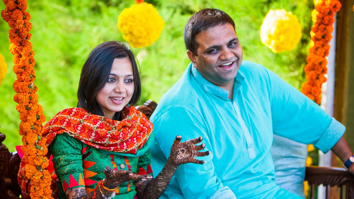 Bride and Groom During Mehendi by WildCard Entertainment Wedding-photography | Weddings Photos & Ideas