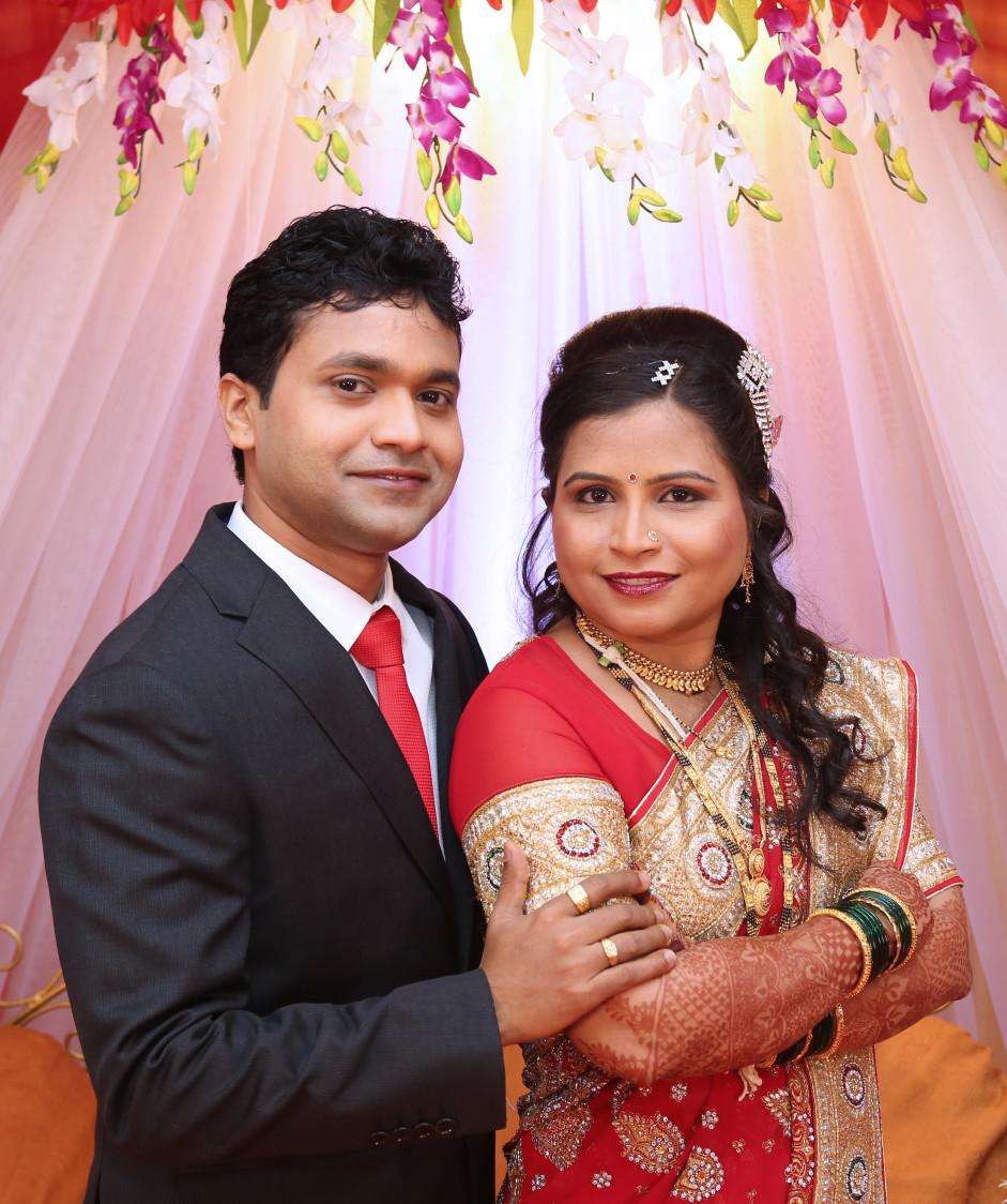 Bride and Groom Portrait by Dharmesh Chawda Wedding-photography | Weddings Photos & Ideas