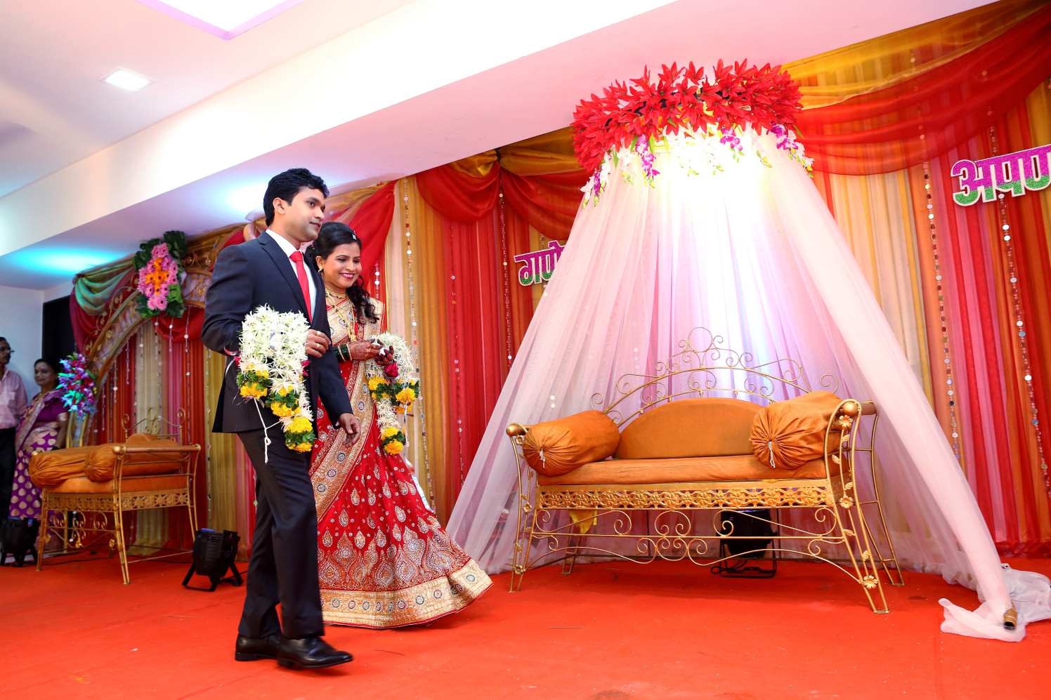 Reception Seating Decor by Dharmesh Chawda Wedding-photography Wedding-decor | Weddings Photos & Ideas