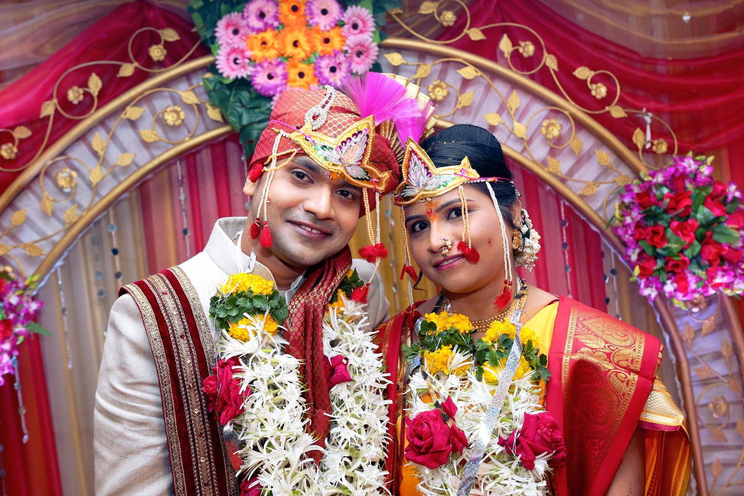 Bride and  Groom Frame by Dharmesh Chawda Wedding-photography | Weddings Photos & Ideas