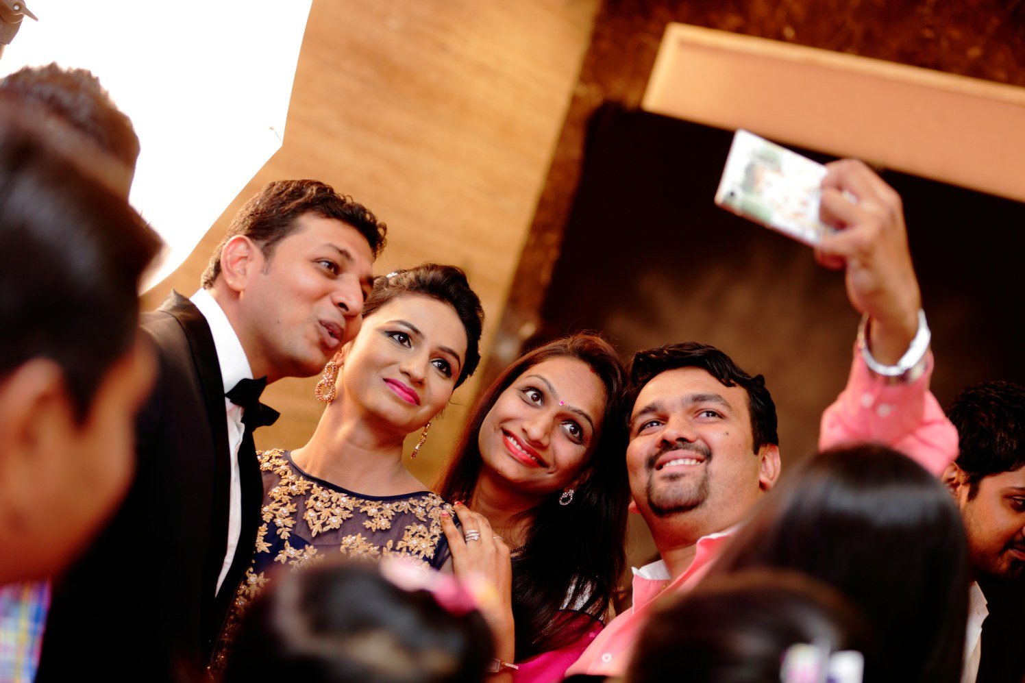 Bride and Groom With Guests by Dharmesh Chawda Wedding-photography | Weddings Photos & Ideas