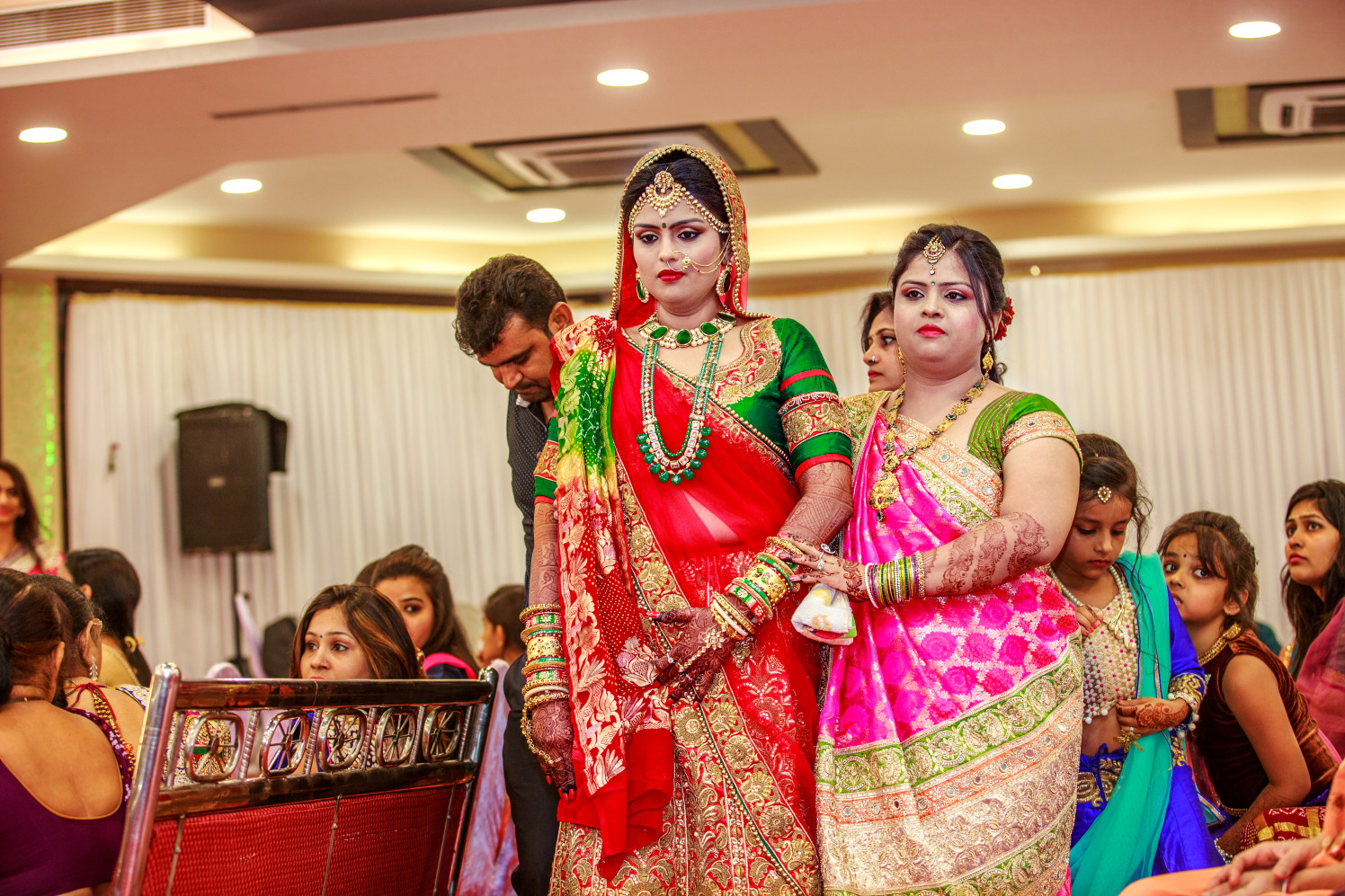 Bride With Sister of The Bride by Dharmesh Chawda Wedding-photography | Weddings Photos & Ideas