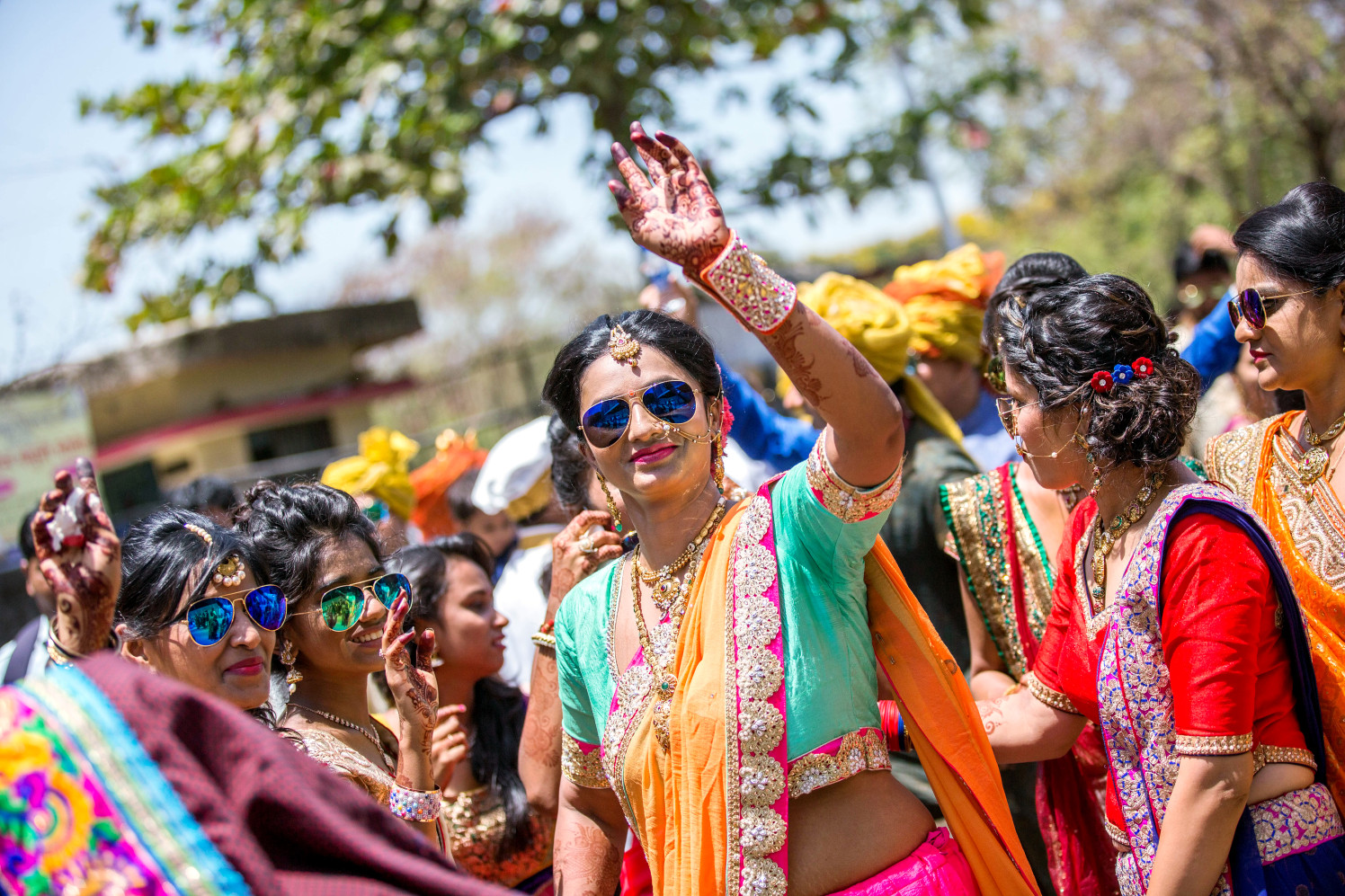Bride Dancing With Friends by Dharmesh Chawda Wedding-photography | Weddings Photos & Ideas