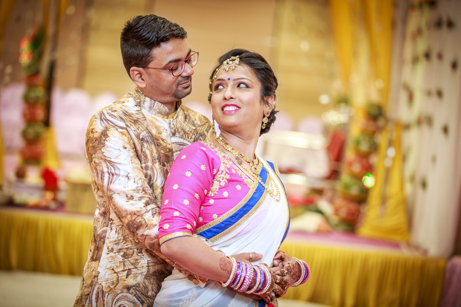 Bride and Groom Portrait by Dharmesh Chawda Wedding-photography | Weddings Photos & Ideas