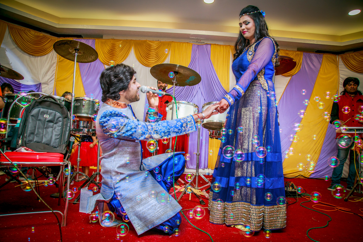 Romantic Bride and Groom Pose by Dharmesh Chawda Wedding-photography | Weddings Photos & Ideas