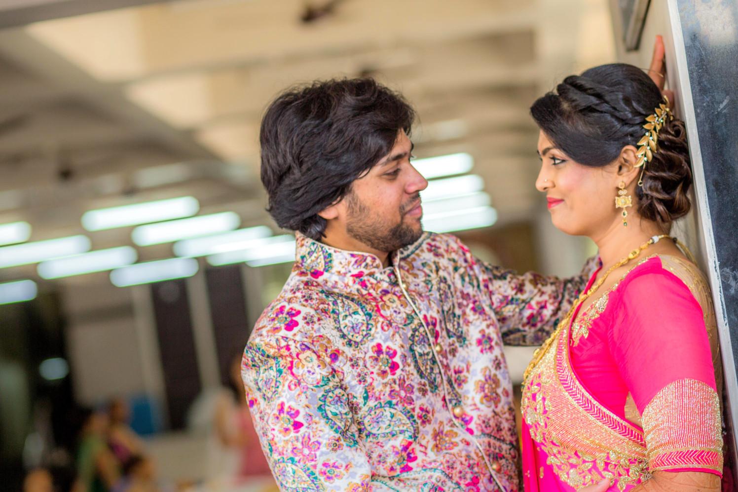 Bride and Groom Romantic Pose by Dharmesh Chawda Wedding-photography   Weddings Photos & Ideas