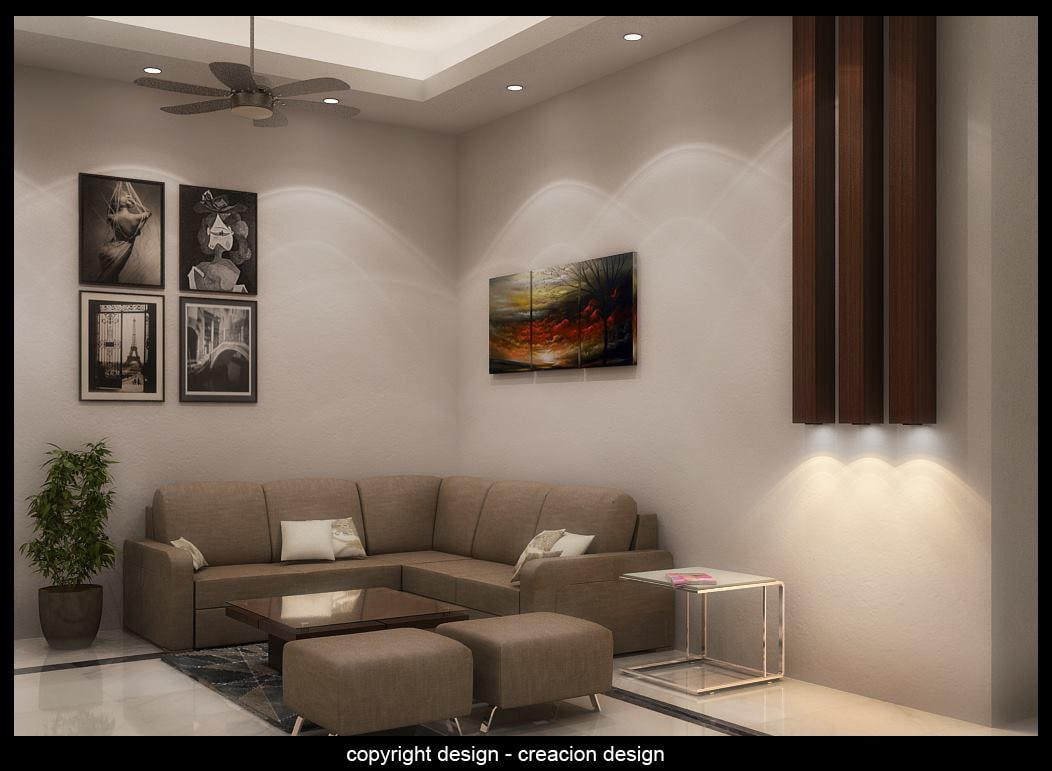 Living Peace by Deepanshu Prasad Living-room Contemporary | Interior Design Photos & Ideas