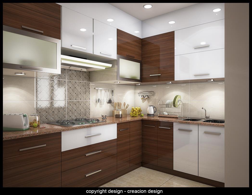 Modern Modular Kitchen With Wooden Cabinets by Deepanshu Prasad Modular-kitchen Modern | Interior Design Photos & Ideas