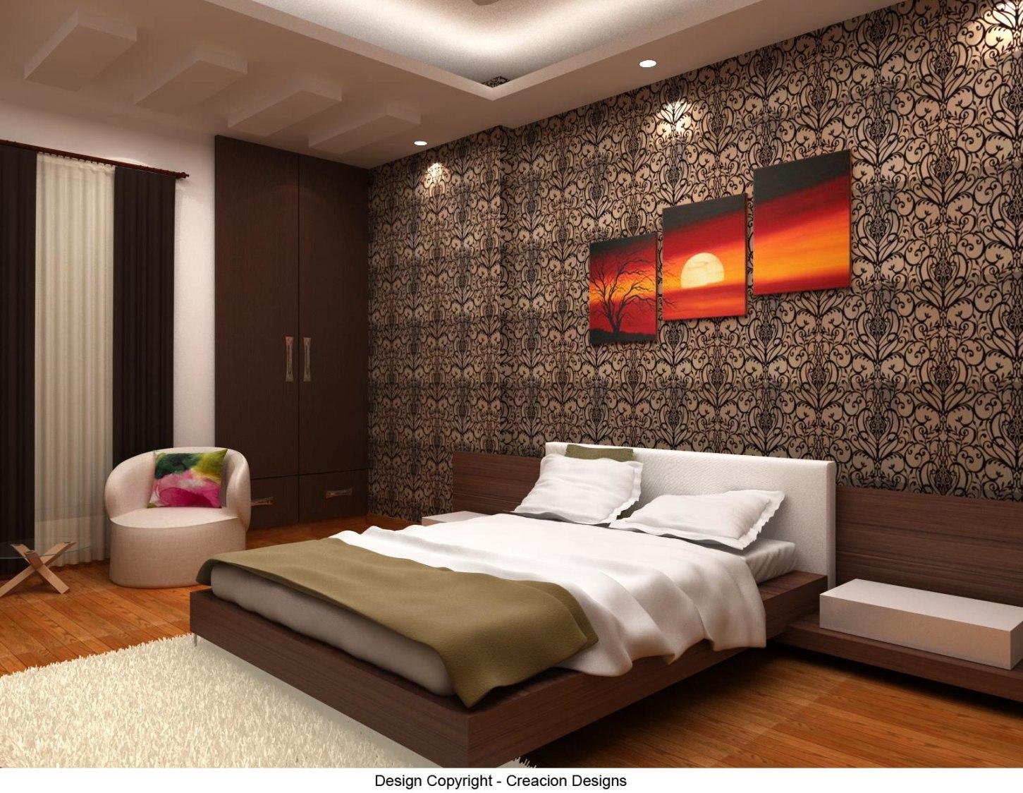 Bedroom With Classic Contemporary Decor by Deepanshu Prasad Bedroom Contemporary   Interior Design Photos & Ideas