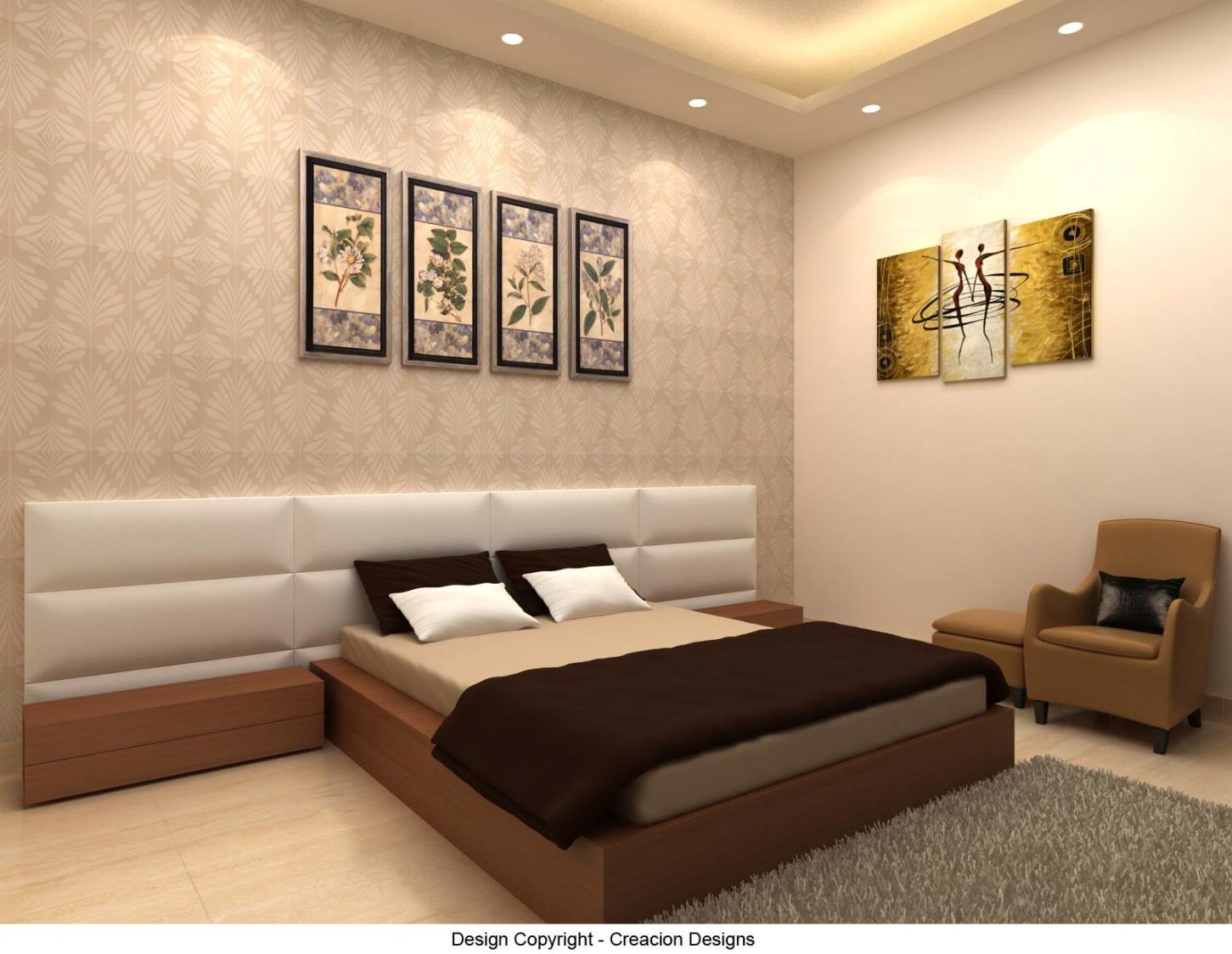 Bedroom With Modern Touch by Deepanshu Prasad Bedroom Modern | Interior Design Photos & Ideas