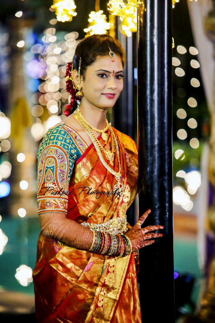 Bride Portrait Shot by Pushpak Inabathini Wedding-photography | Weddings Photos & Ideas