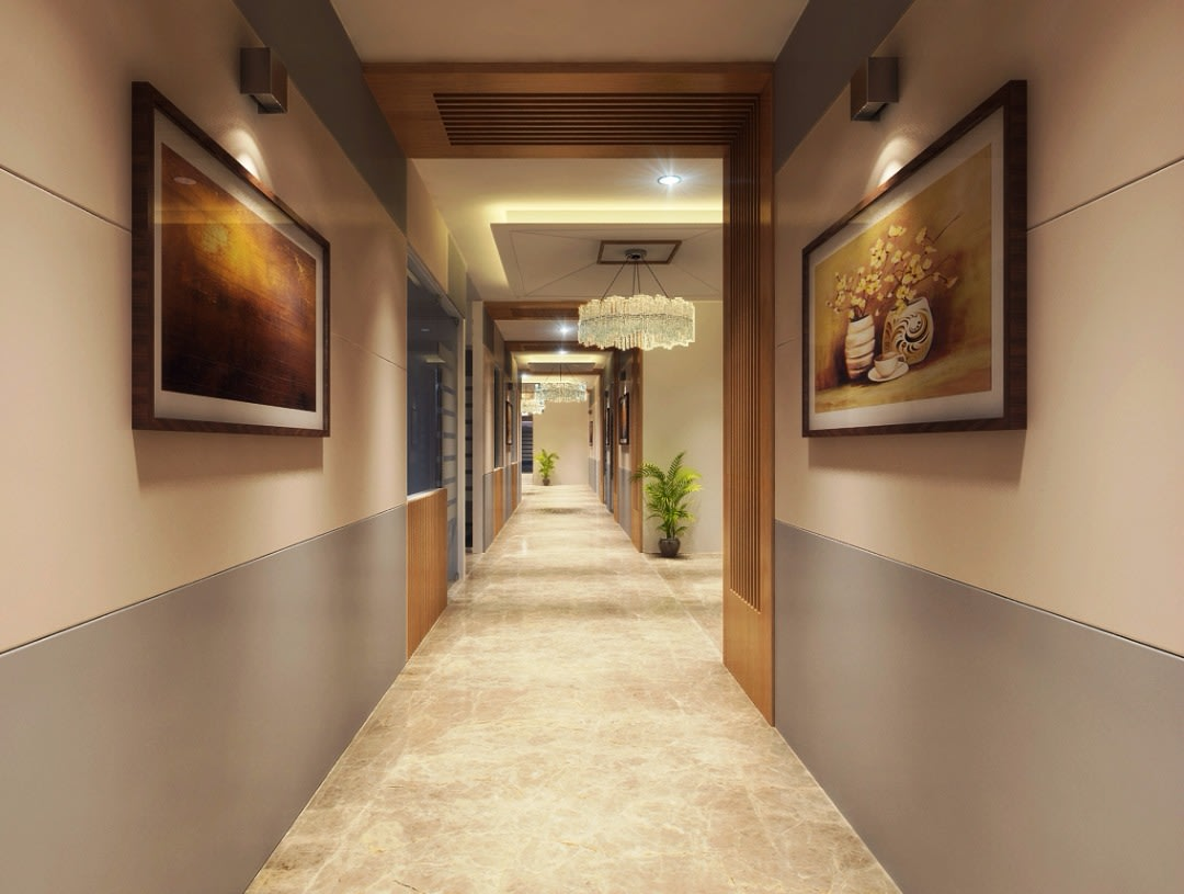 Corridor by Vishal Arora Modern | Interior Design Photos & Ideas