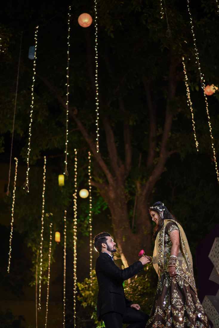 Bride and Groom Reception Pose by ORDUO PRODUCTIONS PVT. LTD Wedding-photography | Weddings Photos & Ideas