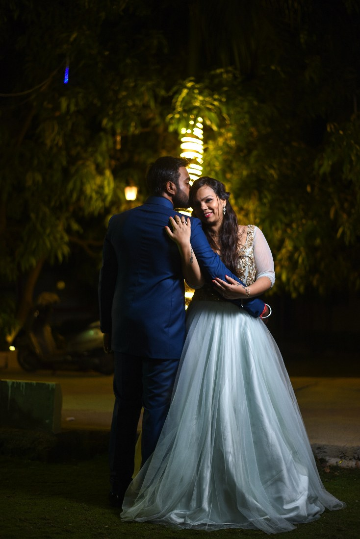 Bride and Groom Romantic Pose by ORDUO PRODUCTIONS PVT. LTD Wedding-photography | Weddings Photos & Ideas