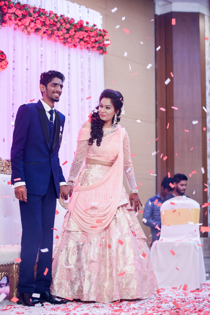 Bride and Groom During Their Reception by ORDUO PRODUCTIONS PVT. LTD Wedding-photography Bridal-makeup | Weddings Photos & Ideas