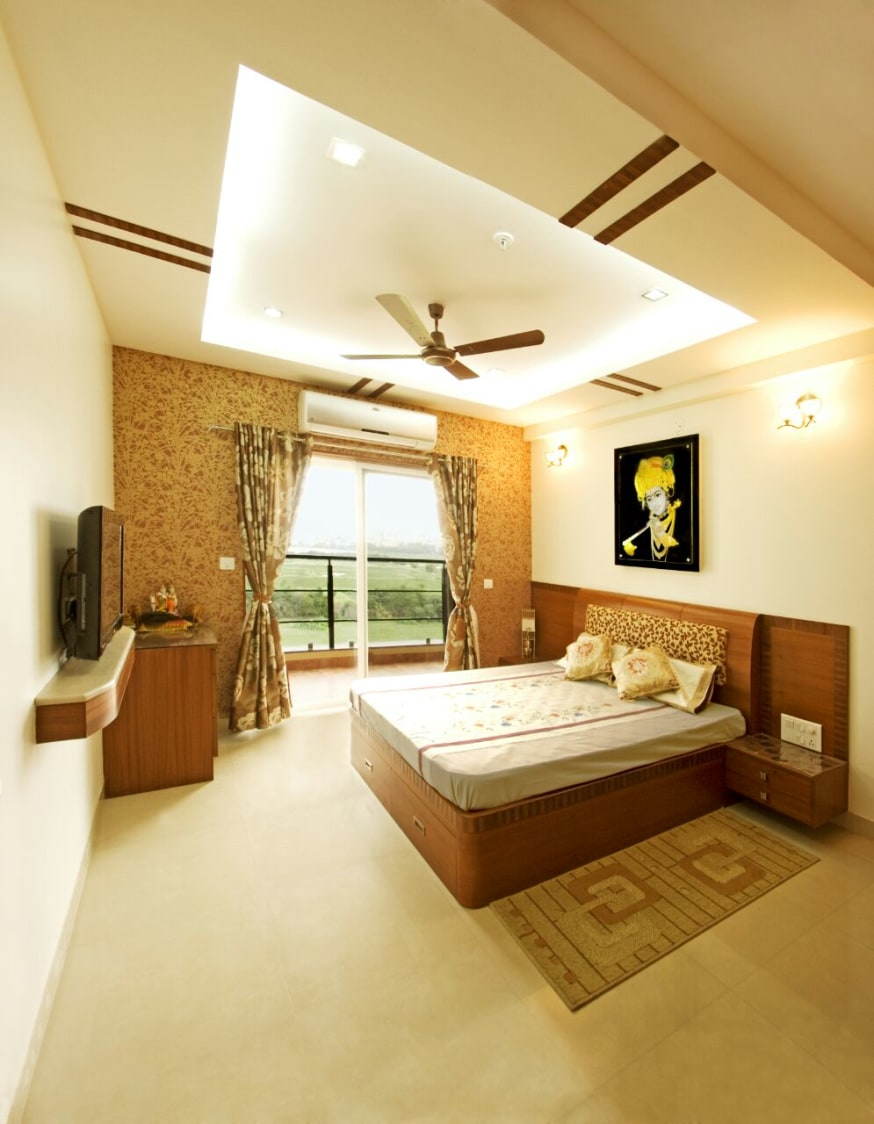 Lighted False Ceiling In Master Bedroom with Traditional Wall Art by Yogendra Garg Bedroom Contemporary | Interior Design Photos & Ideas