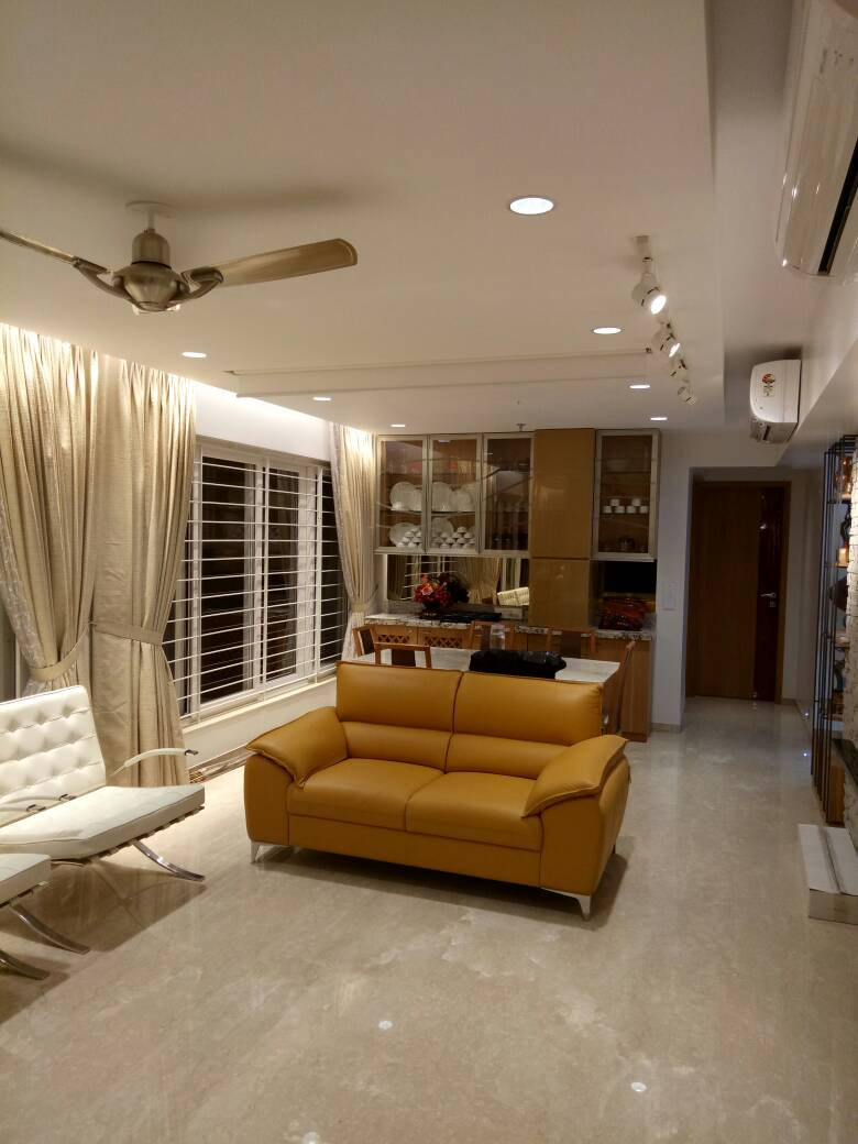 Tan Sofa Set by Amith Kumar Living-room | Interior Design Photos & Ideas