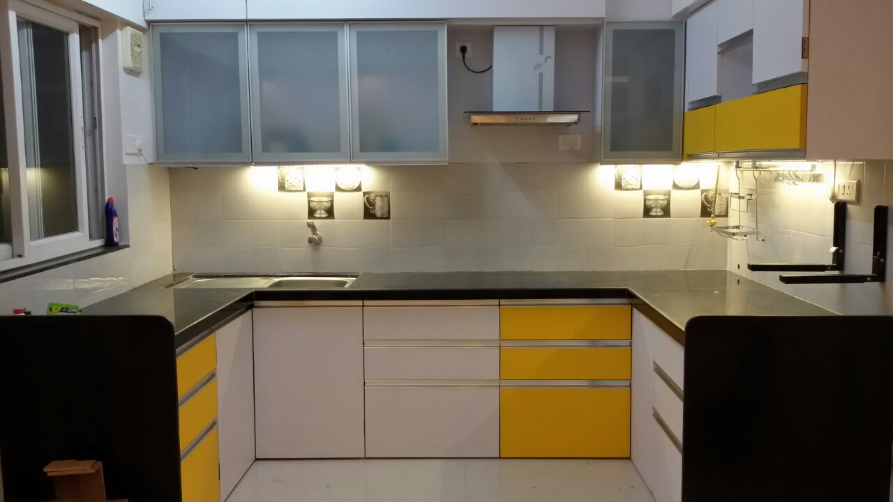 Yellow hues by Amith Kumar Modular-kitchen Modern | Interior Design Photos & Ideas