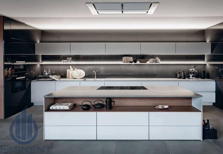 Parallel Kitchen With Pale Shade Wooden Cabinets by Shyam Gupta Modular-kitchen Modern | Interior Design Photos & Ideas