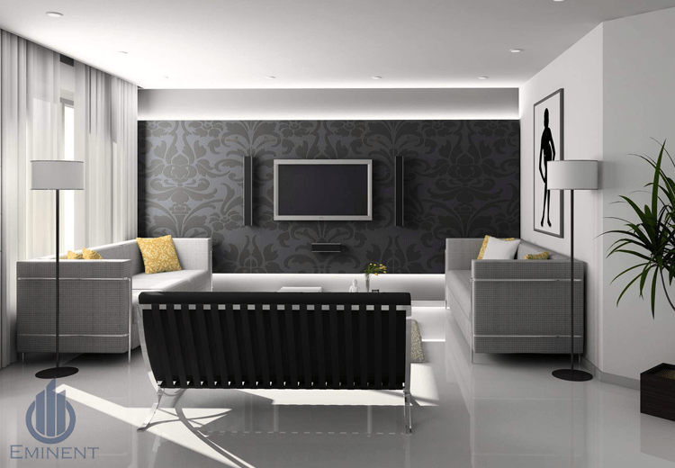 Tones Of Grey by Shyam Gupta Living-room Modern | Interior Design Photos & Ideas