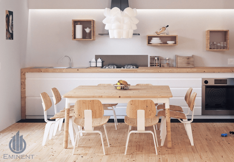 A Wooden Cook-In by Shyam Gupta Dining-room Modern | Interior Design Photos & Ideas