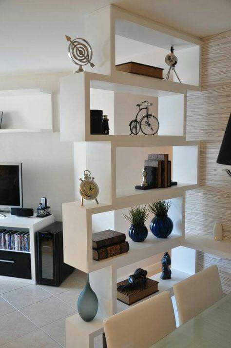 Modern display in white color by Rohit Gir Indoor-spaces Contemporary | Interior Design Photos & Ideas
