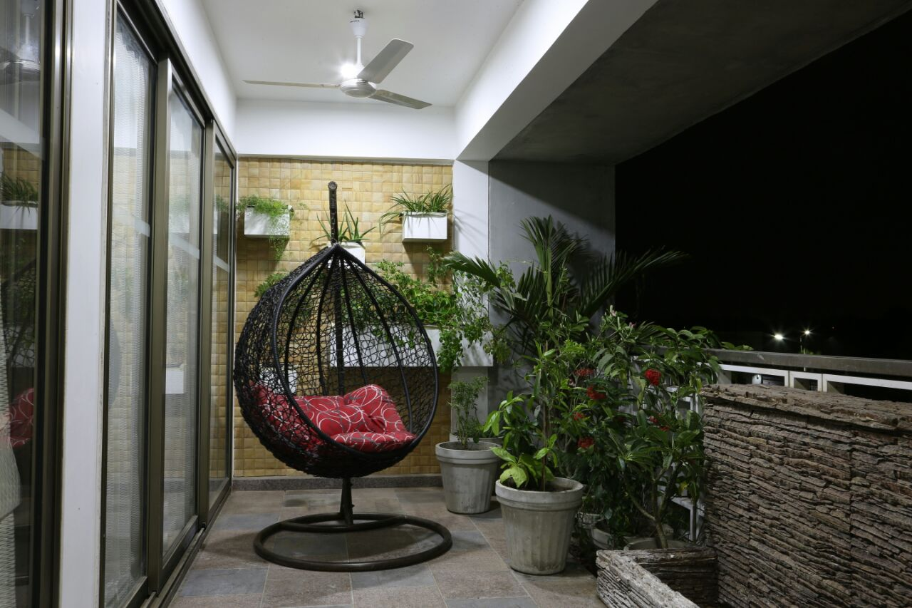 Black Patio Furniture by Devang Shah Open-spaces Contemporary | Interior Design Photos & Ideas