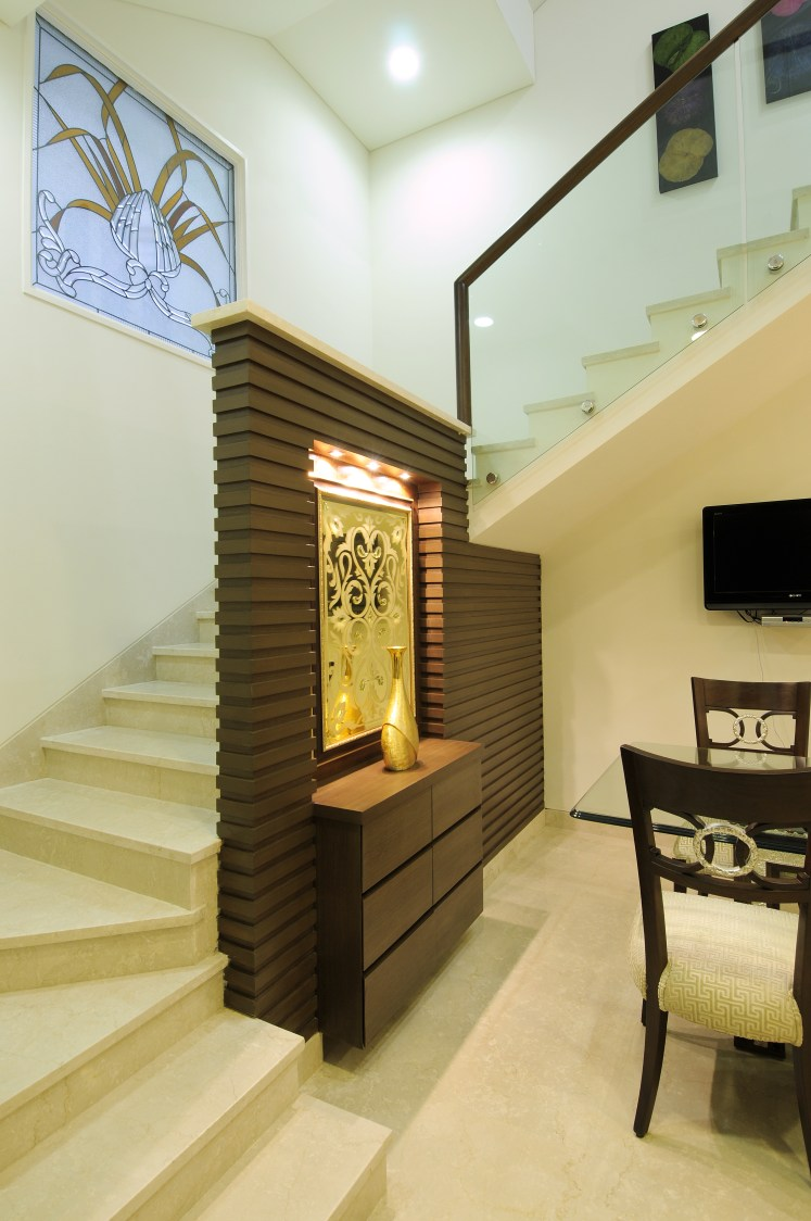 Staircase With Pale Shade Interior by Nandigam Harish Indoor-spaces Modern | Interior Design Photos & Ideas