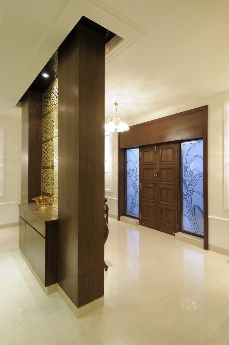 Hallway With Marble Flooring by Nandigam Harish Indoor-spaces Modern | Interior Design Photos & Ideas